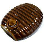 弥満丈製陶所 陶器の湯たんぽ アメ茶