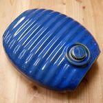弥満丈製陶所 陶器の湯たんぽ 青