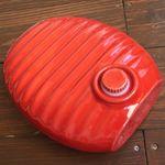 弥満丈製陶所 陶器の湯たんぽ 赤