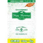 マックプランニング マックヘナ お徳用(ナチュラルオレンジ)-2 400g(100g×4袋)