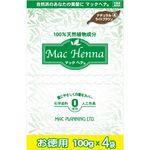マックプランニング マックヘナ お徳用(ナチュラルライトブラウン)―4 400g(100g×4袋)
