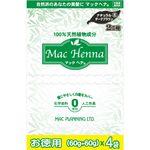 マックプランニング マックヘナ お徳用(ナチュラルダークブラウン)―6 ヘナ60g×4、インディゴ60g×4