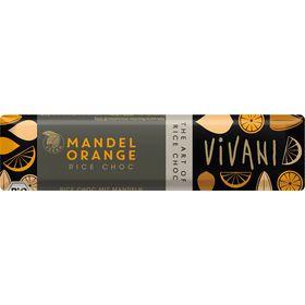アスプルンド VIVANI オーガニックライスミルクチョコレートバー アーモンドオレンジ 35g