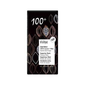 アスプルンド ViVANIオーガニックエキストラダークチョコレート 100%+カカオニブ 80g