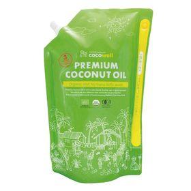 ココウェル オーガニックプレミアムココナッツオイル(無香タイプ) 1840g(2L)