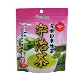 丸善製茶 有機粉末緑茶 宇治茶 40g