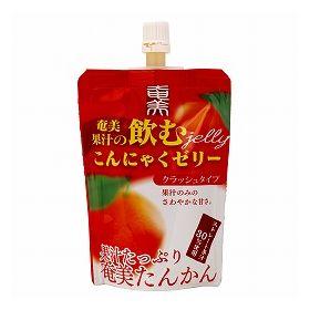 奄美自然食本舗ファクトリー 奄美果汁の飲むこんにゃくゼリー 奄美たんかん クラッシュタイプ 130g